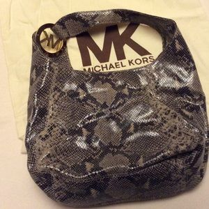 Authentic Michael Kors Snakeskin Hobo Bag